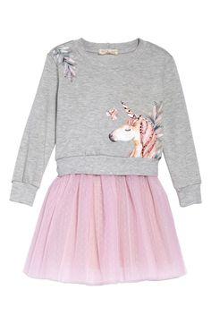 50097c893 Free shipping and returns on Truly Me Unicorn Sweatshirt & Tutu Dress  Set (Toddler