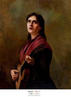 Arts: Canção Sentimental. Berthe Worms, 1904. Óleo sobre tela, 80,5 x 65,5 cm. Acervo da Pinacoteca do Estado de São Paulo. (Fonte: Pinacoteca do Estado de São Paulo)