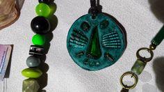 Green handmade pendant