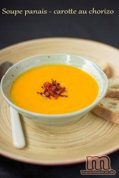 Soupe panais - carotte au chorizo - Macaronette et cie