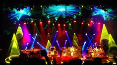 my friend Eli tells me to check out this band, Phish. Haven't yet but one thing's for sure, their light show is amazing.