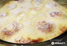 Túrógombóc sütve | NOSALTY Tasty, Yummy Food, Hungarian Recipes, Coleslaw, Cheeseburger Chowder, Salad Recipes, Sweet Treats, Pancakes, Food And Drink