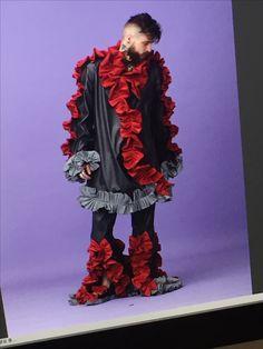 #돌연변이 #exaggerate #menswear #leather #ruffle #mutation made by JaeyeonJung #catholicuniversityofkorea #handmade