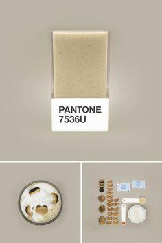 Pantone 7536C. Pantone Smoothies – Recréer les couleurs Pantone avec des fruits mixés. Couleur Pantone.