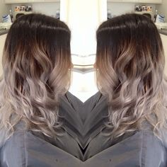 Gorgeous grey and brown ombré hair❤️