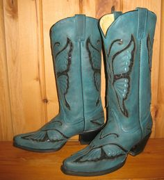 Rivertrail Mercantile - Corral Turquoise Butterfly Boots R1093, $290.00 (http://www.rivertrailmercantile.com/corral-turquoise-butterfly-boots-r1093/)