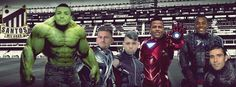 """BLOG: É carnaval: Torcedores do Peixe """"transformam"""" jogadores em super-heróis +http://brml.co/1vw0uvd"""