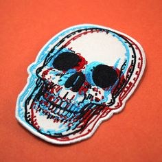 3D Skull Embroidered Patch – Quiet Tide Goods
