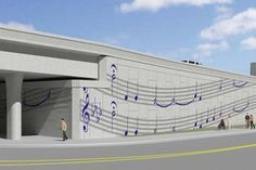Features up for public comment include highway retaining walls decorated with music notes facing the Summerfest grounds.