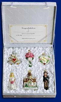 Old World Christmas Wedding Collection, 6 piece set from the Official ChristmasOrnamentStore.com