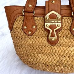 | Michael Kors | Straw Bag Michael Kors straw bag used once in Maui, Hawaii! You won't be disappointed  Michael Kors Bags