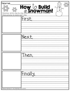 How to build a snowman! Great for writing time :)