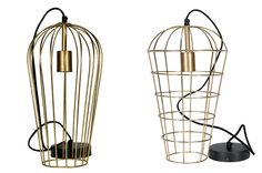 Lámparas jaula de la colección Golden, Francisco Segarra.