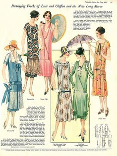 The Pictorial Review, July, 1925, Summer Frocks and Fashion 3 by Gatochy, via Flickr