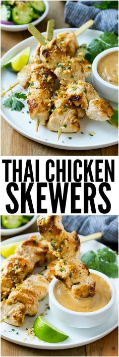 These Thai chicken skewers are marinated in coconut milk, curry and spices and then grilled to perfection. It's a quick and easy meal that's packed full of flavor!