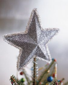 Glittery star tutorial.