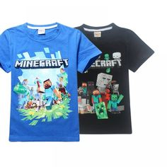 Boy New Year 3D Cartoon Minecraft Print roblox T Shirt For Girls Tee Tops Clothes Children Summer Clothing Baby Cotton Costume  Price: 9.95 & FREE Shipping  #fashion #sport #tech #lifestyle Girls Tees, Shirts For Girls, Kids Outfits, Summer Outfits, Cartoon Outfits, 3d Cartoon, Summer Clothing, Free Shipping, Boys