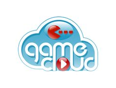 Game cloud logo design. I just want to click to get it started. Addicted games. Pac man inspired.