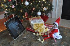 Elf on the shelf ideas -Movie Night