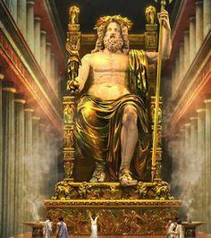 La Statue de Zeus, l'une des 7 merveilles du monde antique