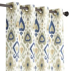 Ikat Curtain - Gray & Gold | Pier 1 | Get up to 8.6% Cashback when you shop with your DubLi Membership! Not a member? Sign up FOR FREE today! www.downrightdealz.net