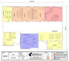 Office Layout Plan for private offices. #officelayout
