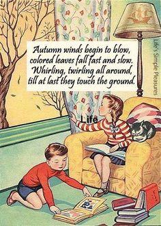 "fuckyeahvintage-retro: "" The ABC Book - Autumn "" Happy Fall Y'all, Hello Autumn, Nursery Rhymes, Fall Halloween, Halloween Pics, Autumn Leaves, Fall Decor, How Are You Feeling, Make You Feel"