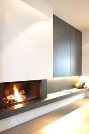 A modern minimalist fireplace