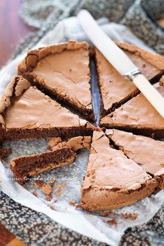 Torta Tenerina - A thin chocolate cake/pie form Ferrara - Italian Recipe Sweets Recipes, Just Desserts, Baking Recipes, Cake Recipes, No Bake Chocolate Cake, Chocolate Recipes, Far Breton, Patisserie Sans Gluten, Kolaci I Torte
