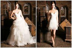 Vestidos de novia que se transforman, ¡2 en 1!