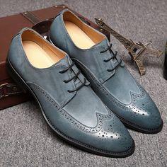 Men Fashion Oxfords - Genuine Leather Dress Shoes