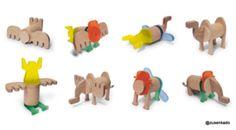 ♥  Kameel- houtenspeelgoed