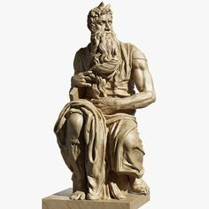 Moses by Michelangelo Buonarotti 3D Model available on Turbo Squid, the world's leading provider of digital 3D models for visualization, films, television, and games. Michelangelo Pieta, Ganesha Art, Films, Statue, Models, 3d, Games, Digital, Movies