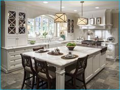 Light granite kitchen countertops with white wood cabinets   My Sweet Things