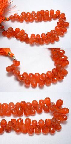 Carnelian 110790: Carnelian Faceted Tear Drops Shape Gemstone Beads 7X10 - 8X12mm 8.5 Inch Strand -> BUY IT NOW ONLY: $47.15 on eBay!