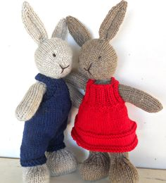 Natural Stuffed Animal Toy Bunny Rabbit Lovey handKnit by woolies on Etsy