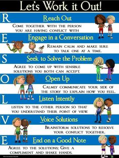 Task Shakti - A Earn Get Problem Conflict Resolution Poster: Resolve-Let's Work It Out Problem Solving Skills, Coping Skills, Social Skills, Life Skills, Counseling Activities, Therapy Activities, Character Education, Physical Education, Art Education