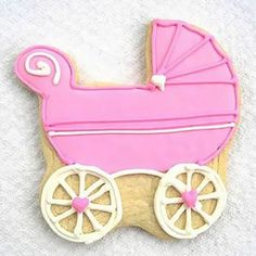 "These beautifully custom designed cookies are perfect for baby showers and other baby celebrations. Made from a classic butter cookie recipe with a touch of almond, guests of all ages will love these cute and delectable treats. Our distinguished baker handcrafts each cookie with great care. Cookies come in a generous size, approximately 4"" x 4"", and are hand decorated with royal icing that dries into a sweet crunchy topping. Cookies are chewy on the inside. #timelesstreasure"
