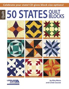 50 States Quilt Blocks - Celebrate your state!