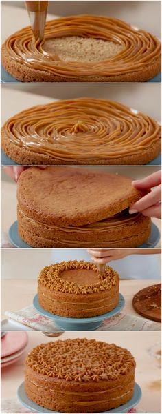 Bolo Churros Tamanho Família | Tão delicioso que se tornou meu bolo favorito! #bolo #bolochurros