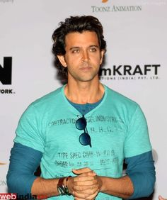 Bollywood actor Hrithik Roshan during the first look of Cartoon Network Kid Krrish in Mumbai, India on September 17, 2013.  http://movie.webindia123.com/movie/asp/event_gallery.asp?cat_id=2&p_id=0&e_no=5945
