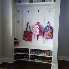 Converting an Entry Closet into a mini Mud Room- practical DIY home renovation organize