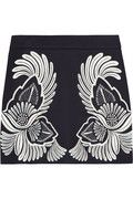 Stella McCartney|Embroidered wool and cashmere-blend mini skirt|NET-A-PORTER.COM