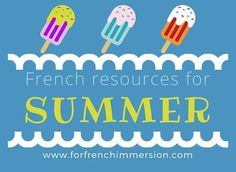 French Summer Resources: summer-themed resources for your French classroom. These activities work well whether you teach French Immersion, or Core French. French Classroom Decor, Classroom Icebreakers, Classroom Ideas, Teaching French Immersion, French Summer, Core French, Phonics Games, French Resources, French Teacher