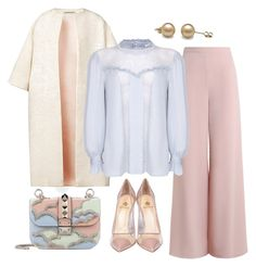 """""""Margaret"""" by pinkpeony21 ❤ liked on Polyvore featuring Esme Vie, Zimmermann, Ghost, Semilla and Valentino"""