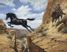 Imágenes Arte Pinturas: Pinturas de Caballos Saltando y Corriendo ...