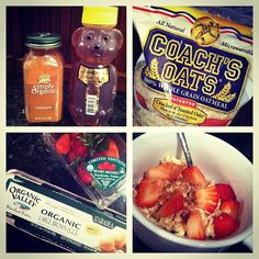 Yum! @MyTrainerBob 's PB & J oatmeal has met a good match love the fresh strawberries! @Fit Mom Diet #coachsoats