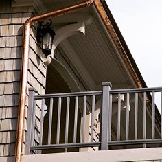 Time to ensure all your eavestrough and downspouts are clear of debris from winter. This will prevent water buildup that could cause future leaks. #hunkeconstruction #tips #hunkeprojects #outdoors #design #balcony