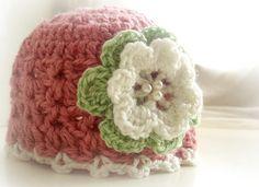 Ravelry: Pink girly hat pattern by The Hobbyhopper