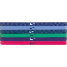 Nike Printed Headbands - Assorted 6-Pack ($15) ❤ liked on Polyvore featuring accessories, hair accessories, head wrap headband, nike, hair bands accessories, nike hairband and head wrap hair accessories